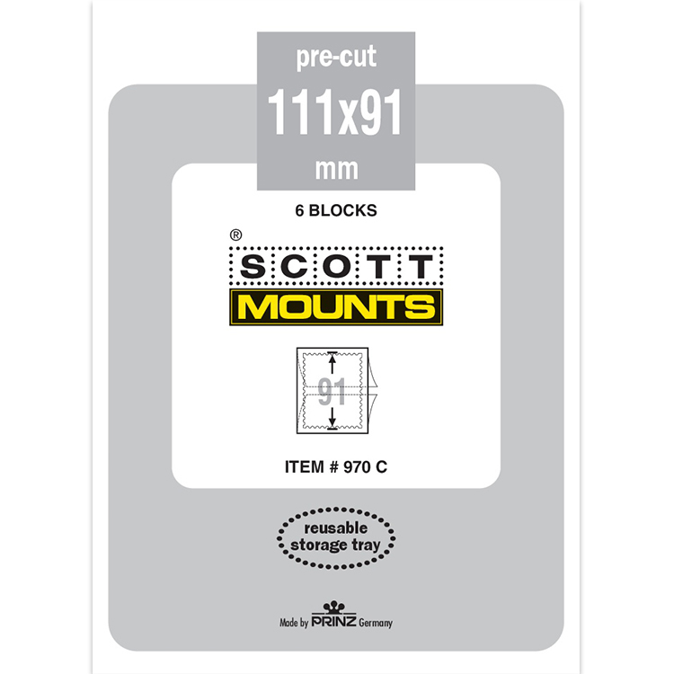 ScottMount 111x91 Stamp Mounts - Clear