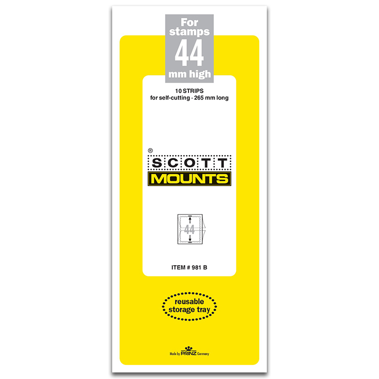 ScottMount 44x265 Stamp Mounts - Black