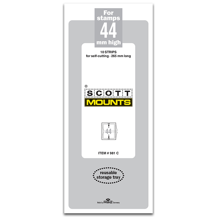 ScottMount 44x265 Stamp Mounts - Clear