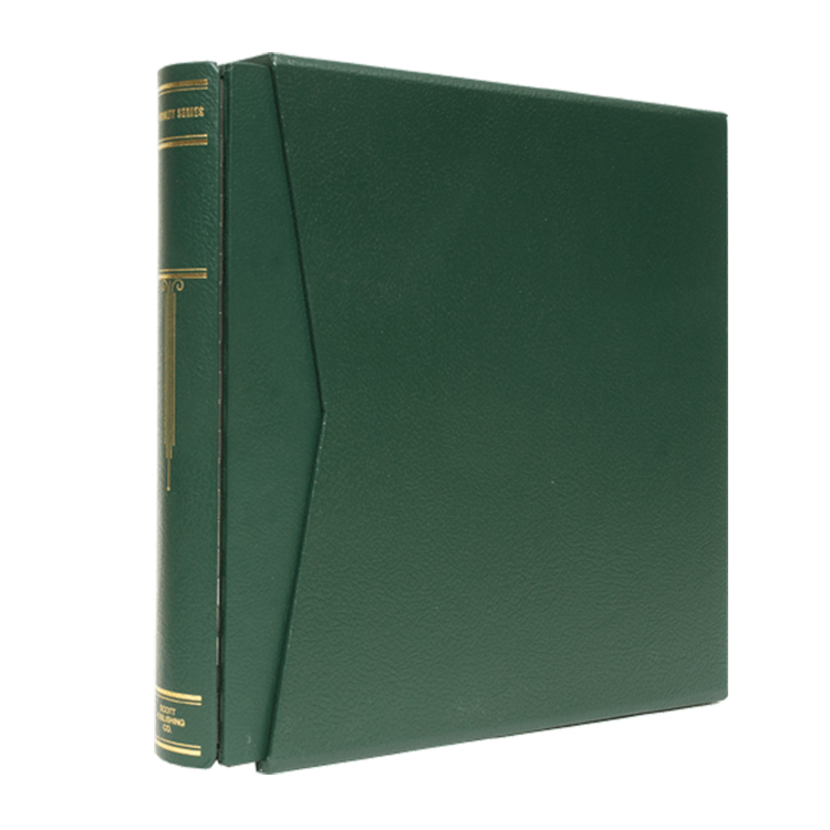 Scott Specialty Green 3-Ring Binder and Slipcase - Small