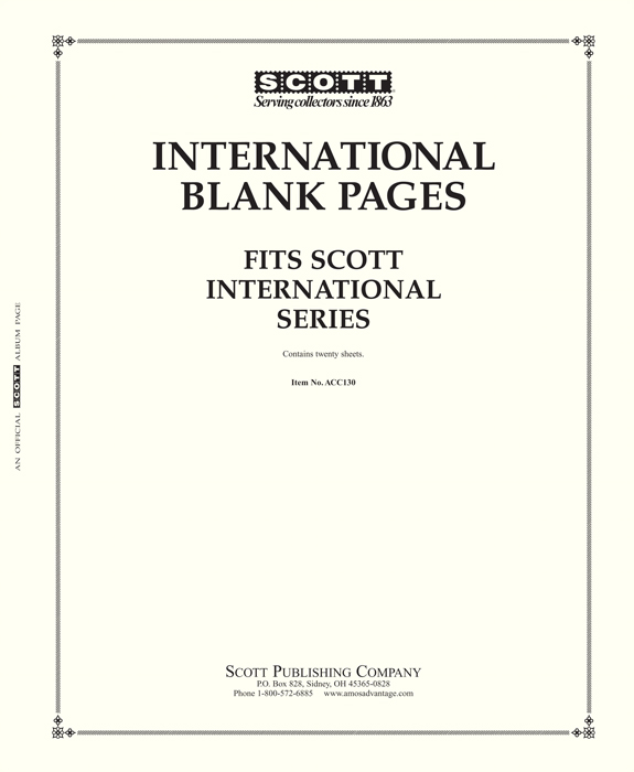 Scott International Blank Pages