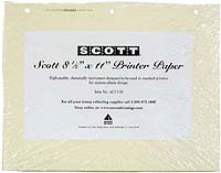 "SCOTT 8.5 "" x 11"" ARCHIVAL PRINTER PAPER (100 PAGES)"