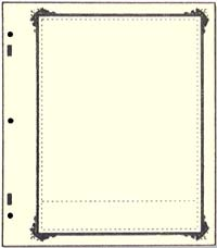 ADVANTAGE STOCKSHEET 1-POCKET (242MM) W/ SPECIALTY BORDER (PACK OF 10)