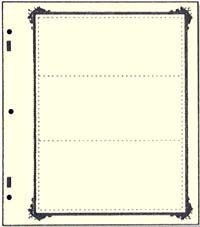 ADVANTAGE STOCKSHEET 3-POCKET (79MM)  W/ SPECIALTY BORDER (PACK OF 10)