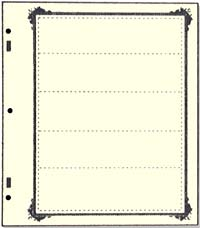 ADVANTAGE STOCKSHEET 5-POCKET (45MM) W/ SPECIALTY BORDER (PACK OF 10)