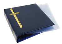 BLUE COVER BINDER & 20 CLEAR COVER PAGES (2 POCKET)