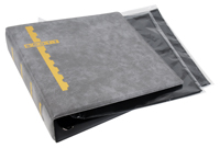 GRAY COVER BINDER & 25 BLACK COVER PAGES (2 POCKET)