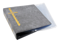 GRAY COVER BINDER & 20 CLEAR COVER PAGES (2 POCKET)