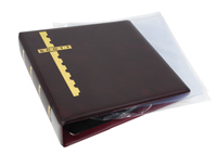 BURGUNDY COVER BINDER & 20 CLEAR COVER PAGES (2 POCKET)