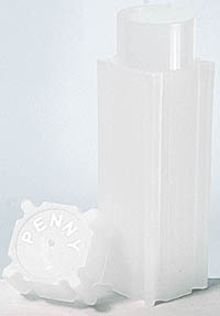 COINSAFE SQUARE COIN TUBE: CENT (19MM)(HOLDS 50 COINS)