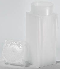 COINSAFE SQUARE COIN TUBE: QUARTER (24MM)(HOLDS 40 COINS)