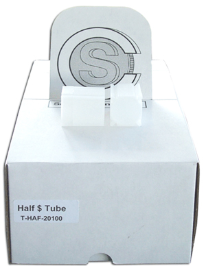 COINSAFE SQUARE COIN TUBE: HALF DOLLAR (31MM)(HOLDS 20 COINS) BOX OF 100