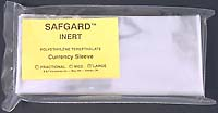 "SAFGARD CURRENCY SLEEVE: LARGE (8"" X 3.5"")-pkg of 50"