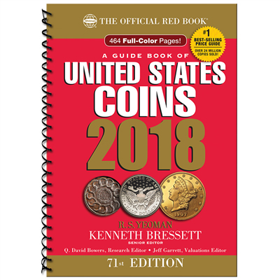 THE OFFICIAL RED BOOK OF U.S. COINS 2018 - SPIRAL BOUND