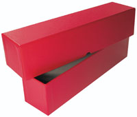 "RED 2.5""X2.5""X12"" STORAGE BOX"