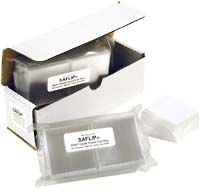 "2.5"" X 2.5"" SAFLIPS: WHITE BOX OF 100 WITH INSERTS"