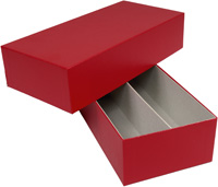 RED DOUBLE-ROW CERTIFIED COIN STORAGE BOX