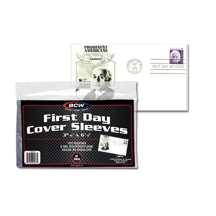 BCW Cover Sleeve - US #6 FDC (100-Pack)
