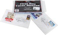 "BCW COVER SLEEVES - US #6 FDC (3-15/16"" X 6-7/8"" - 100 PER/PKG)"