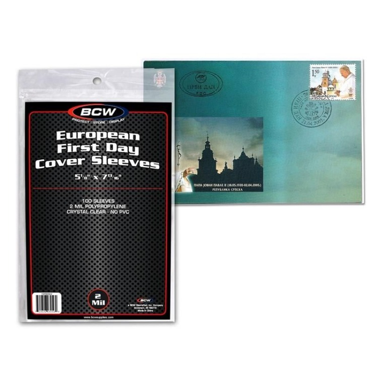 BCW Cover Sleeve - European #9 FDC (100-Pack)