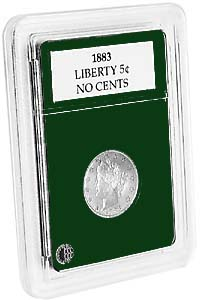 "LIBERTY-JEFFERSON NICKELS (.84""/21.2MM)(3 PACK): PREMIER COIN HOLDER"