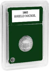 "SHIELD NICKEL (.81""/20.5MM) (3 PACK): PREMIER COIN HOLDER"