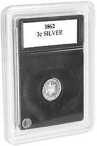 "3-CENT SILVER (.55""/14MM)(3 PACK): PREMIER COIN HOLDER"
