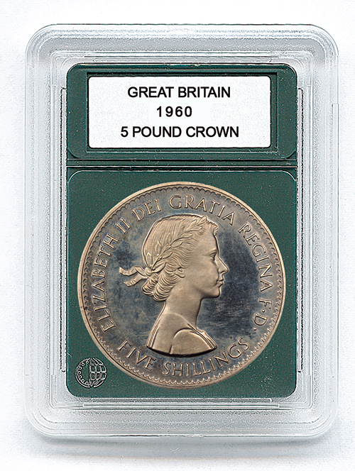 "GREAT BRITAIN CROWN (1818-2003)(1.52""/38.6MM)(3 PACK): PREMIER COIN HOLDER"