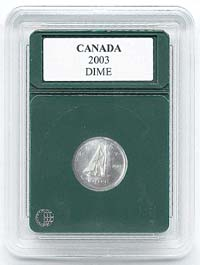 "CANADA DIME (1953-2003)(.712""/18.08MM)(3 PACK): PREMIER COIN HOLDER"
