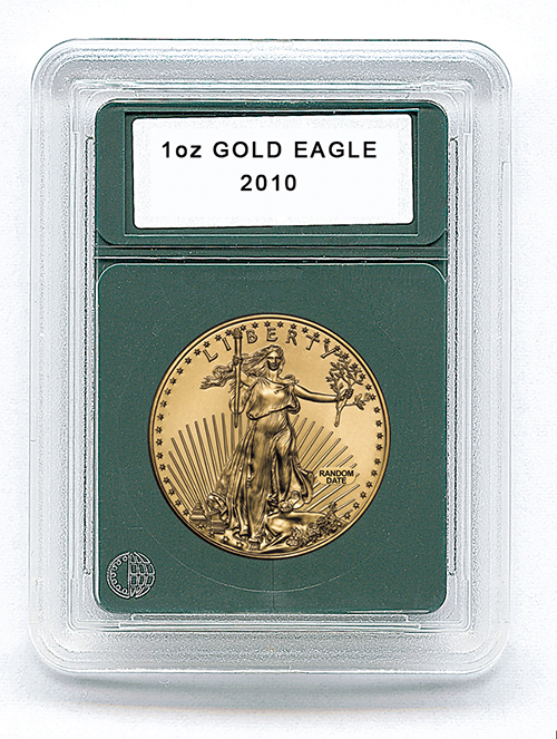 "US 1oz. GOLD EAGLE (1.29""/32.7MM)(3 PACK): PREMIER COIN HOLDER"
