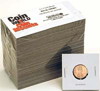 "COIN WORLD 2"" X 2"" CENT MOUNT (100 EA)"