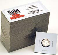 "COIN WORLD 2"" X 2"" DIME MOUNT (CASE OF 5000)"