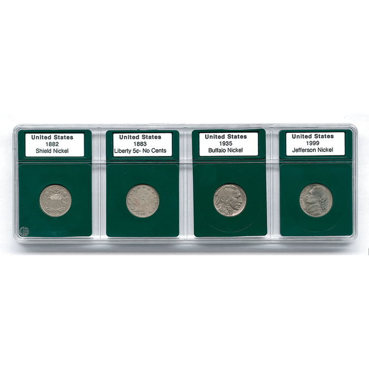 Coin World Premier Holder - US Nickel Type Set (4-Pack)