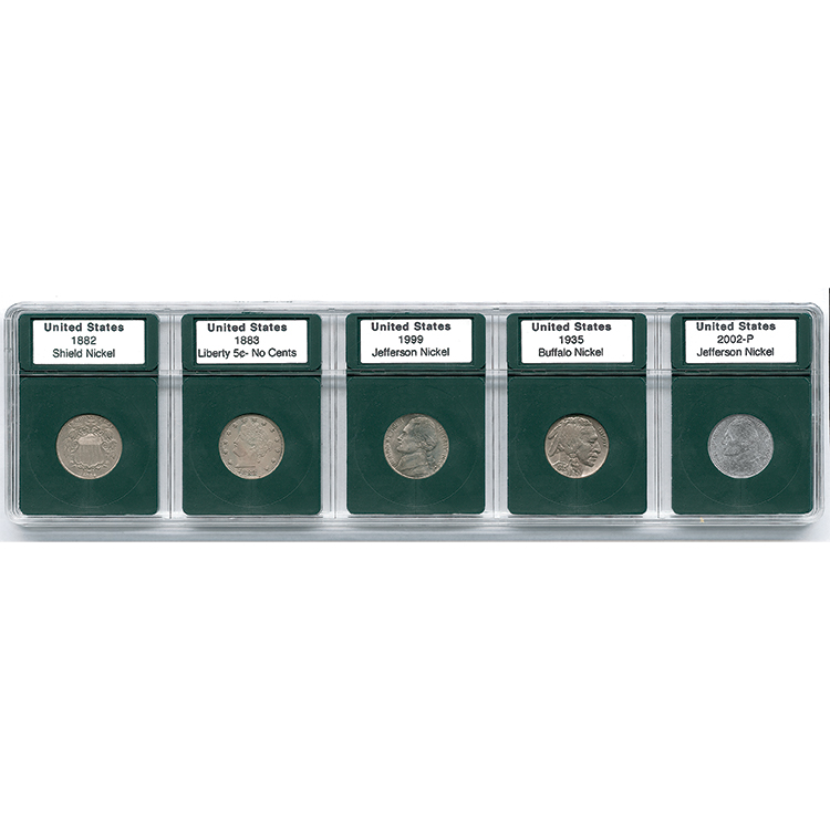 Coin World Premier Holder - US Nickel Type Set (5-Pack)