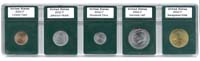 US 5-COIN PROOF SET HOLDER (CENT-HALF DOLLAR)