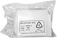 "POLY BAG: 2""X3"", 4MIL (PACK OF 100)"