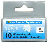 LIGHTHOUSE 19MM COIN CAPSULE- US CENTS (BOX OF 10)