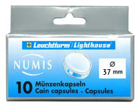 Lighthouse Coin Capsules - 37mm (Box of 10)