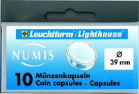 LIGHTHOUSE 39MM COIN CAPSULE- $5 CANADIAN ML (BOX OF 10)