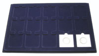 LIGHTHOUSE BLUE 15 2X2 COIN TRAY (PACK OF 2)
