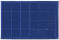 LIGHTHOUSE BLUE 24- COIN TRAY FOR COINS UP TO 45MM (PACK OF 2)