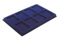 LIGHTHOUSE BLUE 8-SLAB COIN TRAY (PACK OF 2)