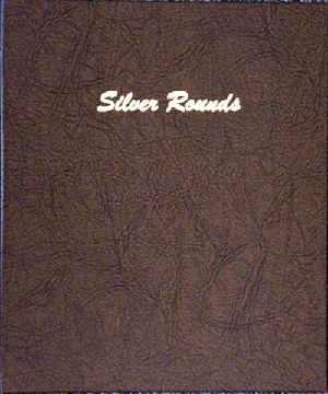 DANSCO ALBUM:SILVER ROUNDS PLAIN, 5PGS, 45 OPENINGS (40MM)