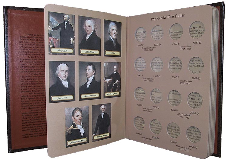 DANSCO US PRESIDENTIAL DOLLARS VOLUME 1, P&D + PROOFS (2007-2011S, 5 PAGES)