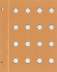 DANSCO: BLANK ALBUM PAGE WITH 16-18MM OPENINGS