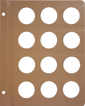DANSCO: BLANK ALBUM PAGE WITH 12-37MM OPENINGS