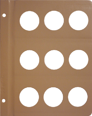DANSCO: BLANK ALBUM PAGE WITH 9-39MM OPENINGS