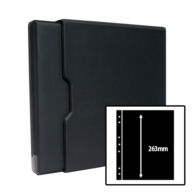 Stamp Stock Album Bundle - Black / 1-Row