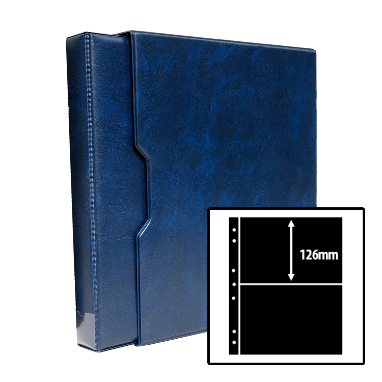 Stamp Stock Album Bundle - Blue / 2-Row