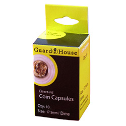 18MM DIRECT-FIT COIN CAPSULE- US DIME (BOX OF 10)